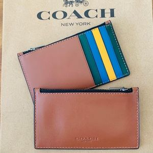 COACH Men's Zip Card Case Color Block